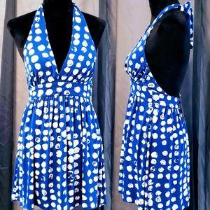 Hourglass Lilly blue polka-dot dress size S🦄💞